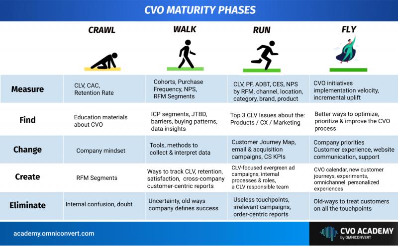 CVO Maturity Phases - Customer Value Optimization Academy